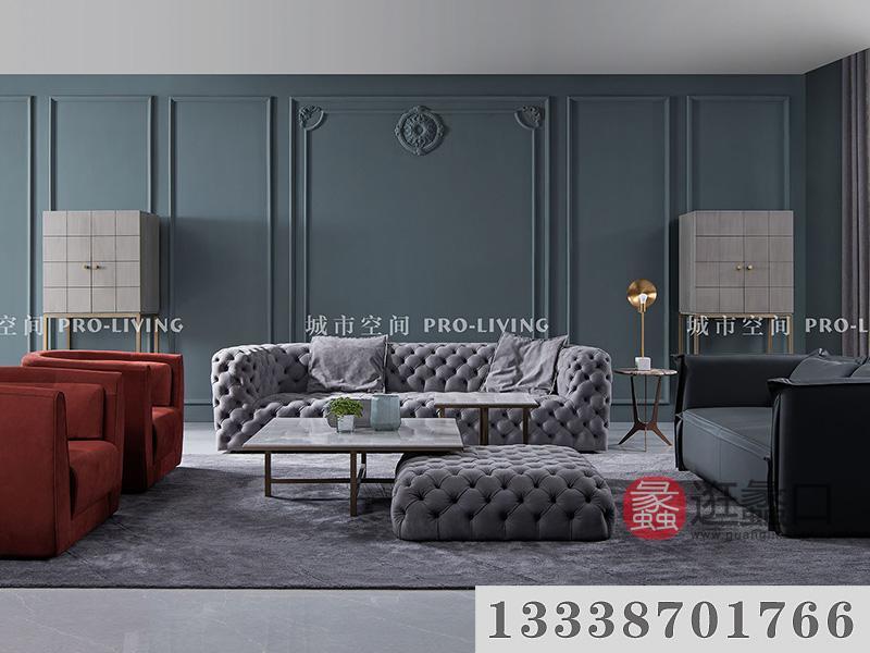 城市空间PRO-LIVING家具意式现代极简轻奢客厅艺术舒适长沙发