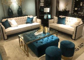 木语森林·LA现代轻奢整体家居客厅轻奢时尚典雅多人座加双人座加单人座沙发加茶几组合MY006