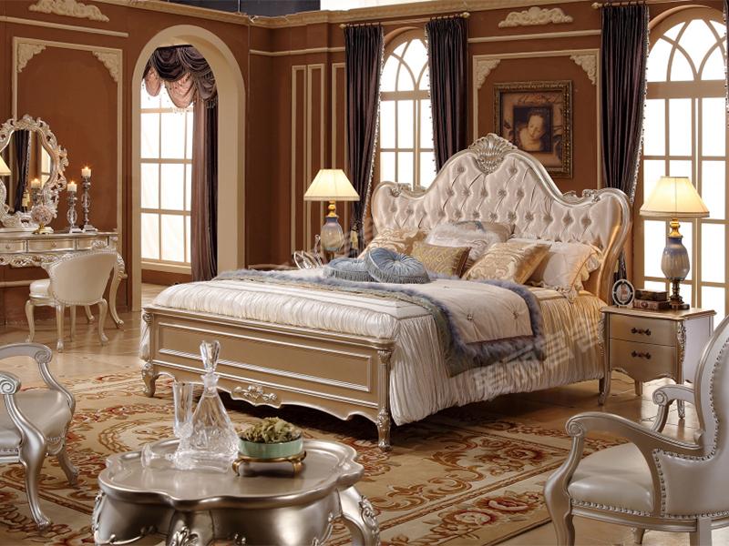 爱丽舍宫家具·爵典家居 欧式卧室实木雕花床H-832a床