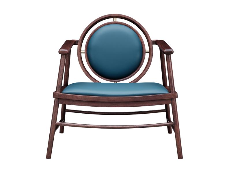 头层皮实木休闲椅M02休闲椅