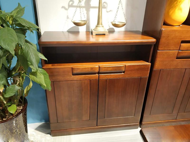和木之家家具 现代卧室金丝玫瑰木实木鞋柜