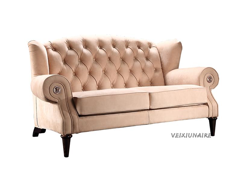 健辉家居·微秀娜家具 意大利风格轻奢客厅双人位沙发1826-2