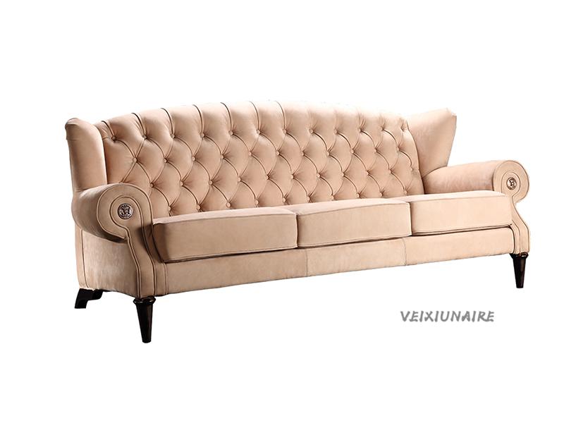 健辉家居·微秀娜家具 意大利风格轻奢客厅三人位沙发1826-3