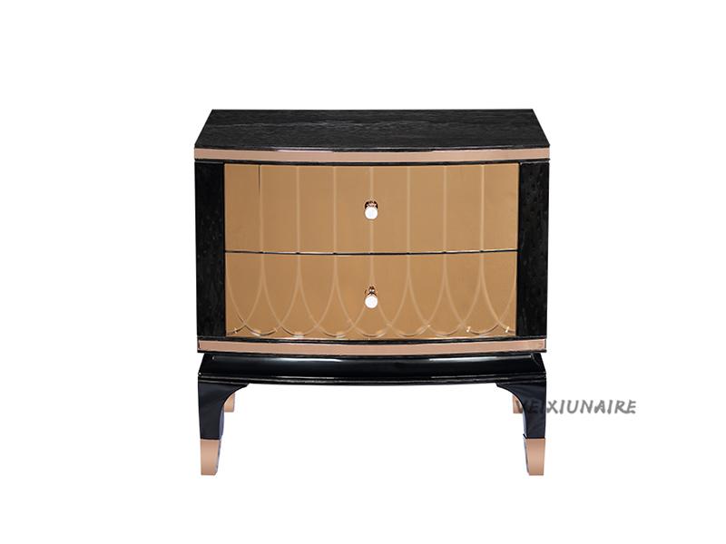 健辉家居·微秀娜家具 意大利风格轻奢卧室经久耐用1835床头柜