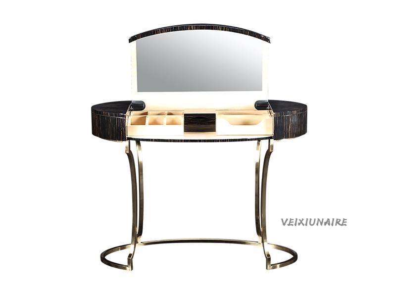 健辉家居·微秀娜家具 意大利风格轻奢卧室金属框架164妆台