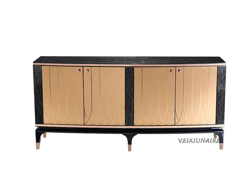 健辉家居·微秀娜家具 意大利风格轻奢餐厅实木餐边柜1833