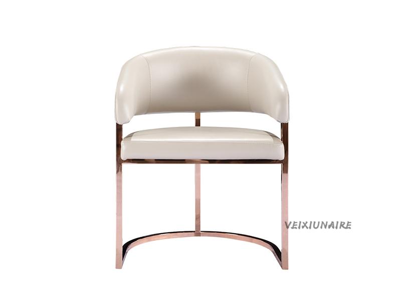 健辉家居·微秀娜家具 意大利风格轻奢餐厅皮艺1831餐椅