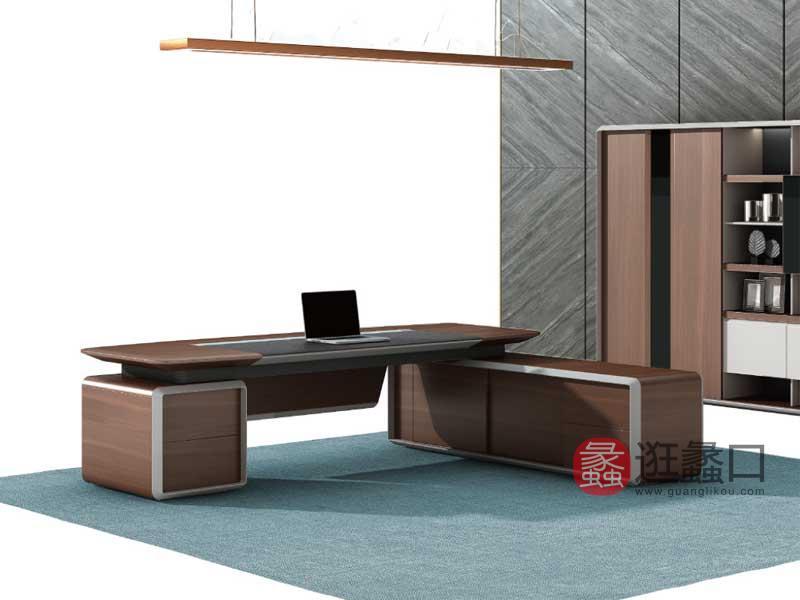 蠡口办公家具现代办公办公桌高端大气高管桌老板桌YD11124L/R