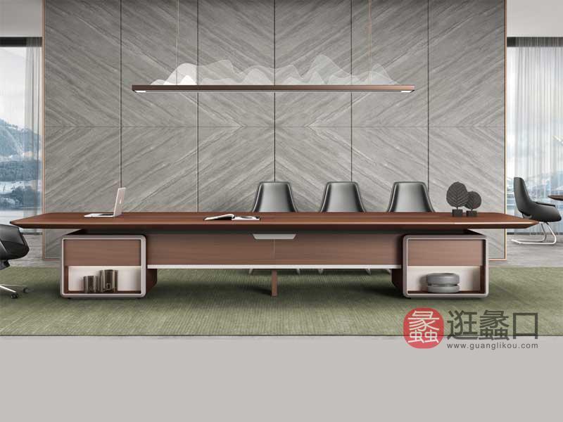 蠡口办公家具现代办公会议桌现代时尚会议桌YD11148会议桌
