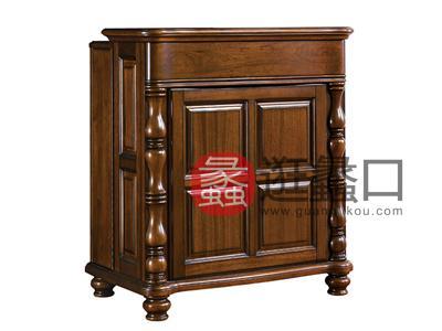 润达名家居·北卡罗家具美式品质款客厅实木鞋柜R-BKL-XG-3