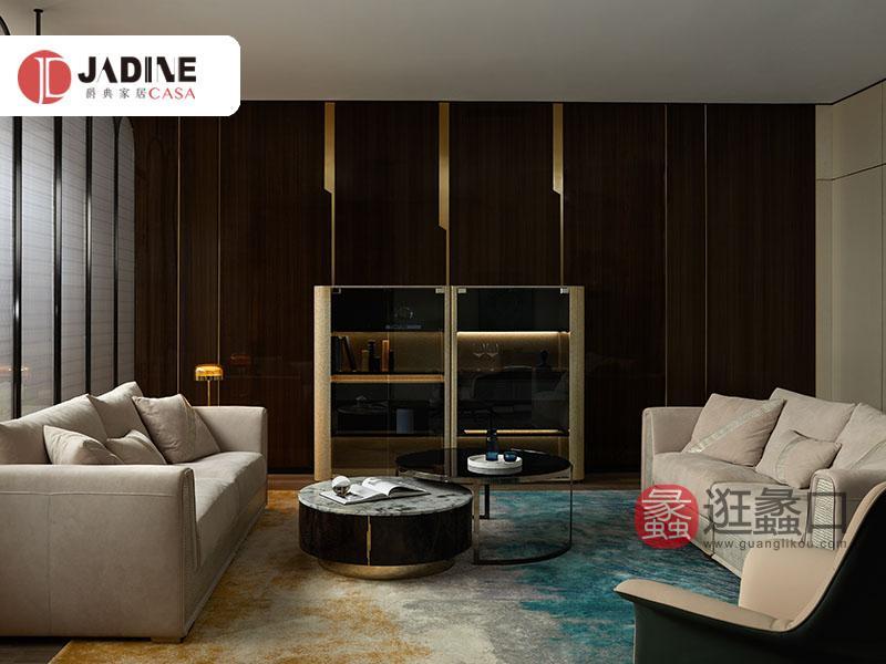爵典家居·集致贝尼现代意式奢雅客厅沙发BE19-01沙发