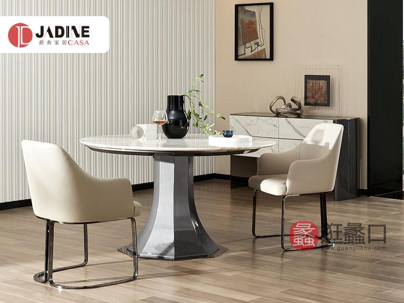 爵典家居·集致贝尼意式现代圆形大理石台面餐桌BE101-02餐桌