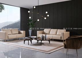 城市空间PRO-LIVING家具意式现代极简轻奢客厅高级灰三人位沙发CS036