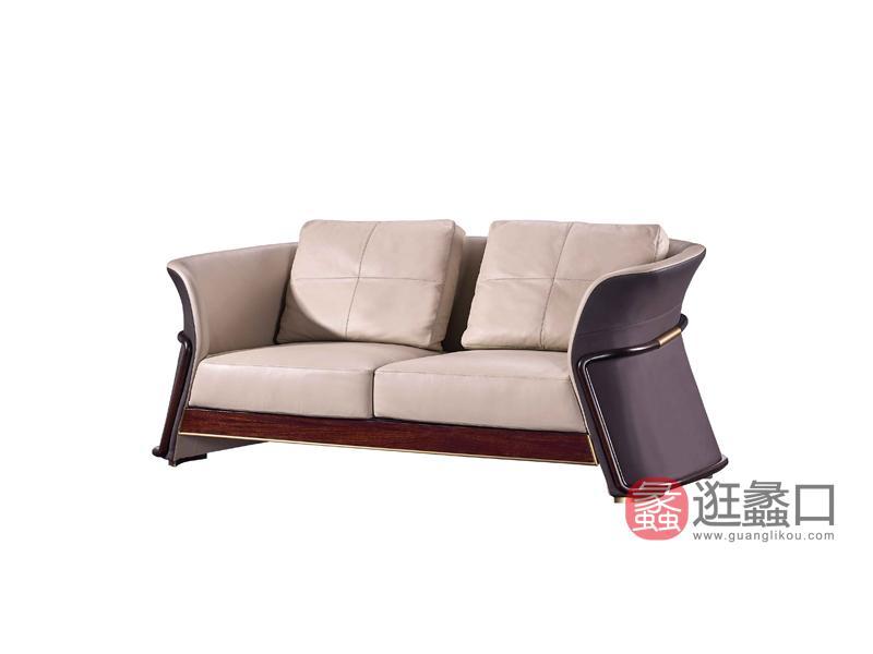 润达名家居·柏森-铂瑞客厅轻奢沙发BS017两人位沙发