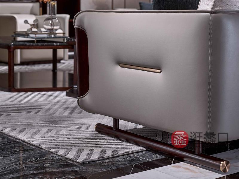 润达名家居·柏森-铂瑞客厅轻奢沙发BS021两人位沙发