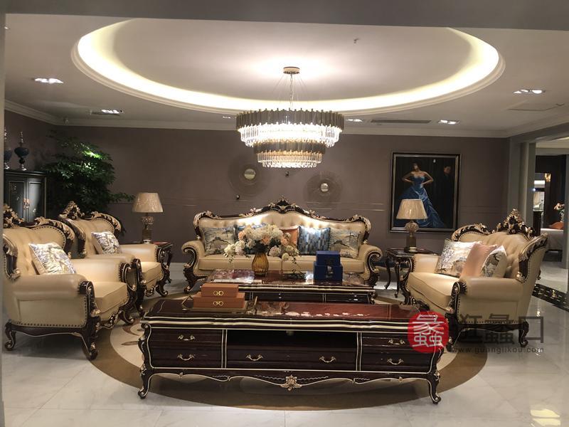 应氏家居-欧式新古典系列新古典客厅沙发YS005
