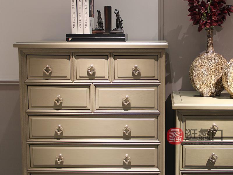 卡特维拉美式客厅纯实木玄关柜边柜