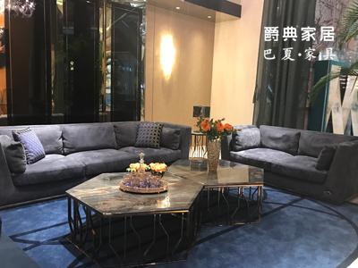 爵典家居·巴夏家具轻奢客厅沙发意式轻奢双人沙发/三人沙发