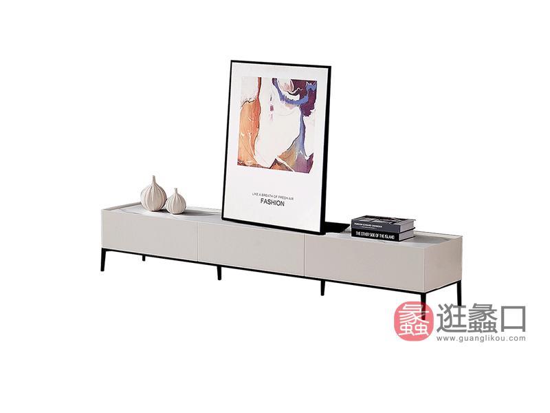 大城小爱家具现代客厅电视柜LS302岩板电视柜