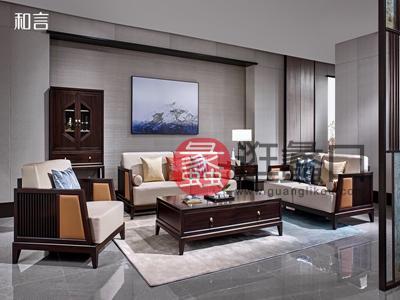 君诺家居·一品海棠·和言家具新中式客厅沙发