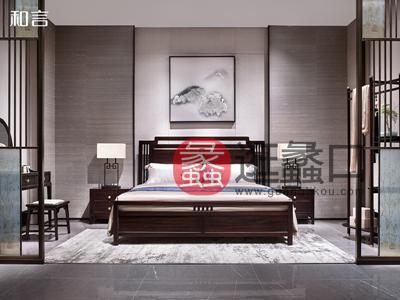 君诺家居·一品海棠·和言家具新中式卧室床