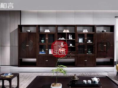 君诺家居·一品海棠·和言家具新中式客厅置物架