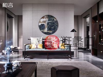 君诺家居·一品海棠·和言家具新中式客厅沙发601罗汉床