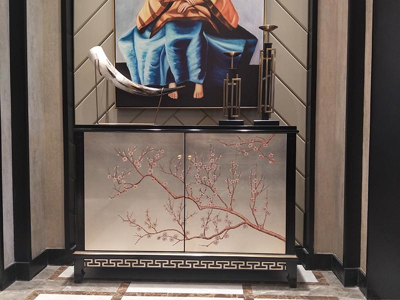 应氏家居·缇迈系列意式轻奢新古典客厅实木玄关柜雅致YS035