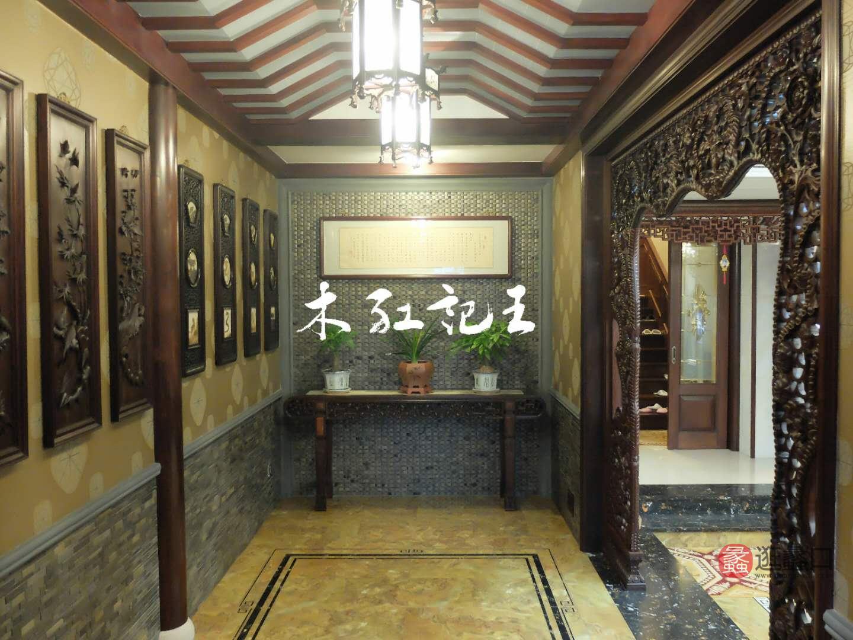 阅界新中式家具中式客厅玄关柜