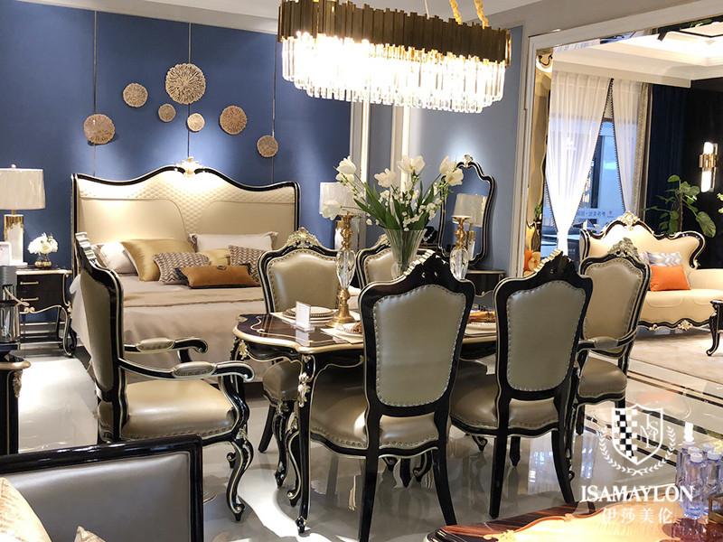健辉家居·伊莎美伦家具欧式新古典家具新古典餐厅榉木(实木)餐桌椅