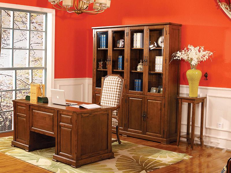 奥斯汀家具美式套房实木家具经典优雅书桌椅组合