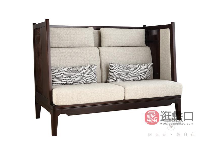 阅界新中式家具新中式客厅黄檀实木时尚简约沙发