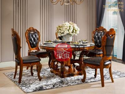 应氏家居-欧式简约系列欧式简约餐厅餐桌椅