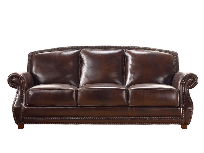 缇美家具美式TM-015三人位真皮沙发