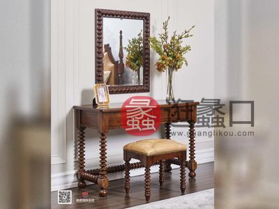爵典家居·融峰国际家具美式卧室梳妆台
