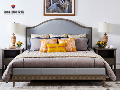 爵典家居·融峰国际家具美式卧室床