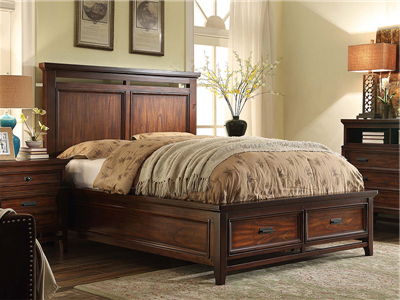 PULASKI家具·爵典家居美式卧室实木双人大床/衣柜/床头柜/斗柜