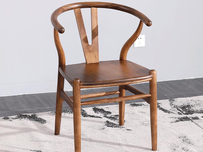 禅意大板胡桃木茶桌椅客椅A款