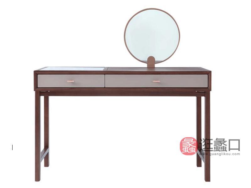 阅界新中式家具轻奢卧室梳妆台简奢实木梳妆台003梳妆台
