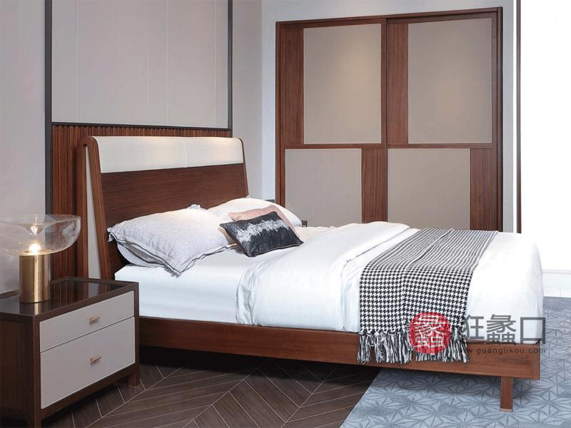 阅界新中式家具轻奢卧室衣柜实木简奢衣柜005推拉衣柜