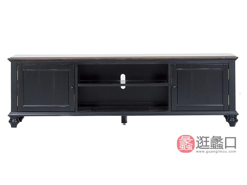 缇美家具美式客厅电视机柜实木桦木211-3012电视柜