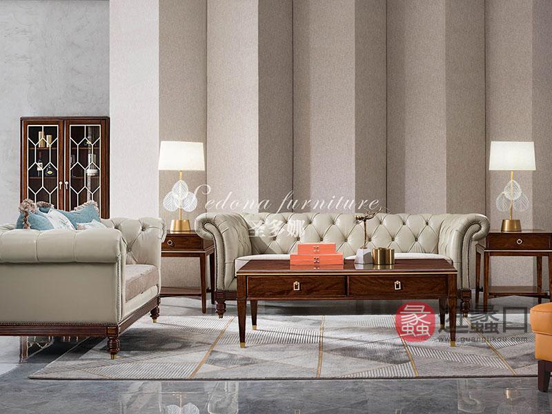健辉家居·圣多娜轻奢家具轻奢客厅舒适休闲2604沙发2+3组合