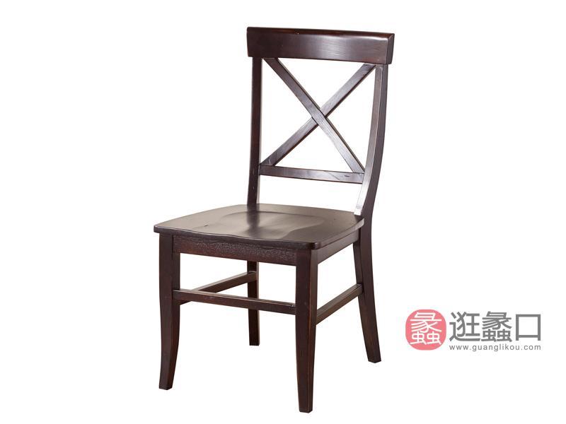 缇美家具美式餐厅餐桌椅W-907餐椅