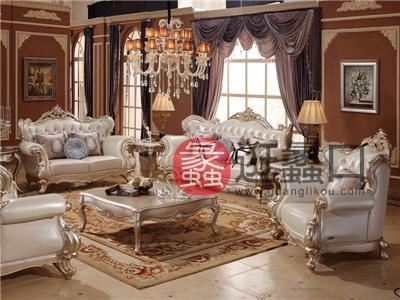爱丽舍宫家具·爵典家居欧式客厅沙发F-899/大方几R-832c