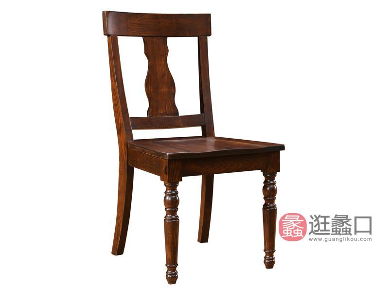 缇美家具美式餐厅餐桌椅W-9017餐椅
