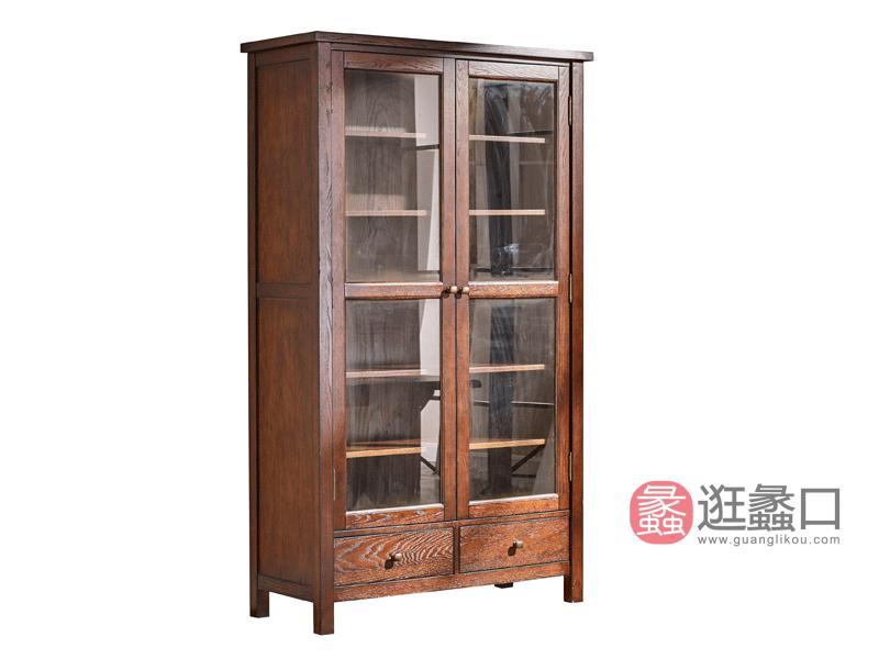 缇美家具美式书房书柜W-6018书柜