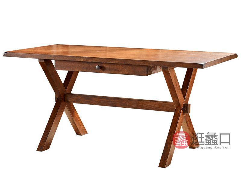 缇美家具美式书房书桌椅W-604-1书桌