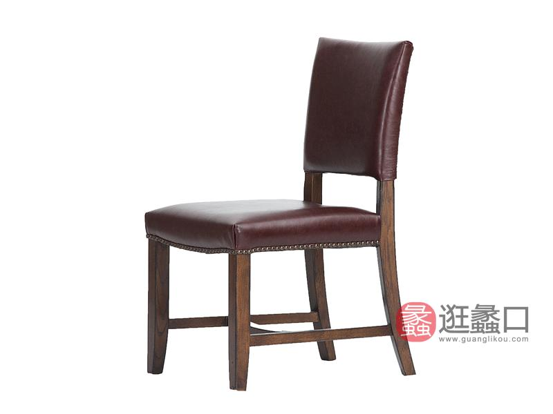 缇美家具美式书房书桌椅W-902书椅