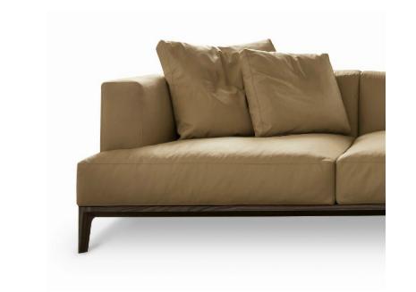 卡萨 现代简约美国进口玫瑰桉木框架顶级头层黄牛皮面料沙发1230009