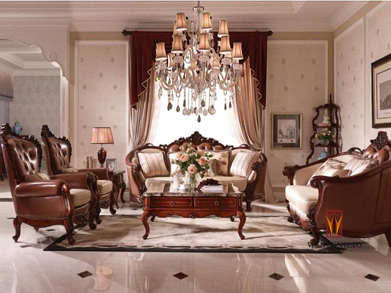 名人居(万芬好)·润达名家居简欧品质款客厅实木雕花双人位/三人位/单人位沙发组合 茶几 角几